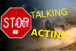 Stop talking, start acting.