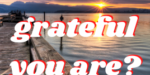 How grateful you are?